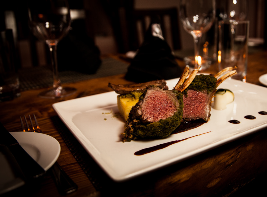 Pesto Crusted Rack of Lamb